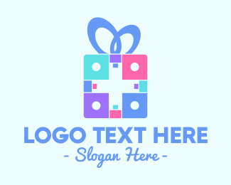 Present - Colorful Gift logo design