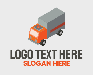 Automotive - Isometric Delivery Truck  logo design