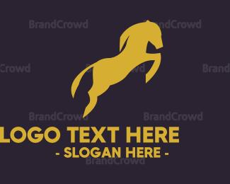 Horse - Jumping Horse logo design
