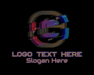 G - Gradient Glitch Letter G logo design