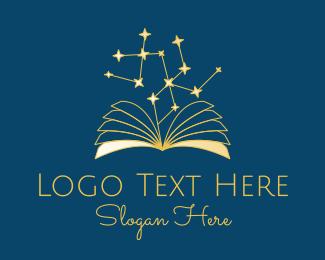 Mystic - Star Constellation Book logo design