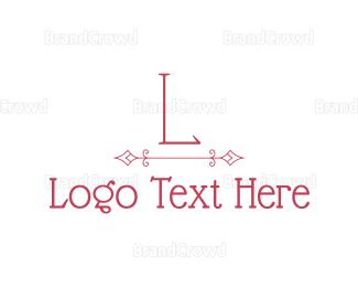 Classic - Pink Classic Lettermark logo design
