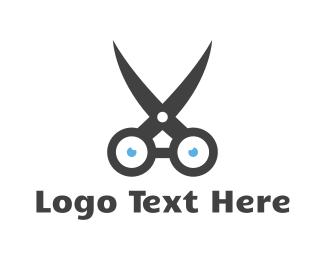 Shears -  Nerd Scissors logo design