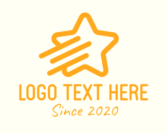 Shooting Star - Yellow Shooting Star  logo design