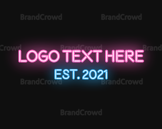 Blue And Pink - Pink & Blue Neon logo design