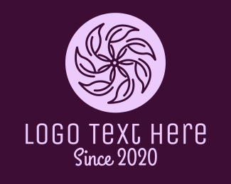 Violet - Spa Violet Flower logo design