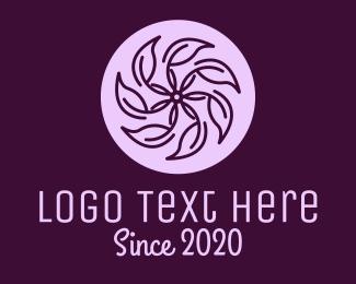 Violet - Spa Violet Flower logo design