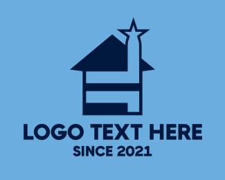 Roofer - Star House logo design