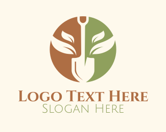 Shovel - Shovel Farming Emblem logo design