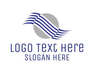 Professional - Modern Wave Circle logo design