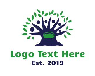 Support Group - Blue Tree People logo design