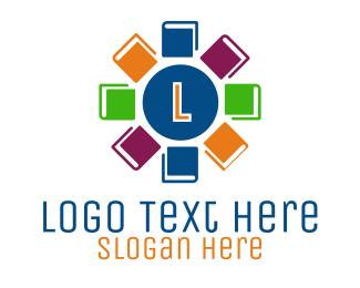 """""""Colorful Book Lettermark"""" by MDS"""