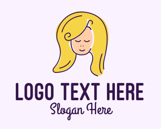 Hair Dye - Blonde Hair Salon logo design