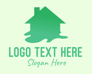 Flood - Green House Paint logo design