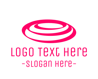 Pond - Pink Rounded Waves logo design