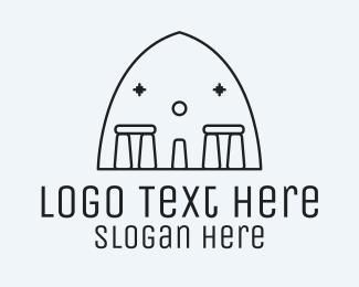 Monument - Stonehenge Stone Monument logo design