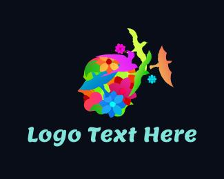Flora - Nature Face logo design