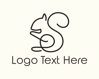 Toy Shop -  Squirrel Outline logo design
