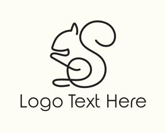 Art Gallery -  Squirrel Outline logo design