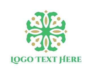 Green & Floral  Logo