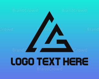 Ag - Triangle AG logo design