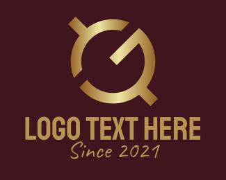 """Golden GQ Monogram"" by RistaDesign"