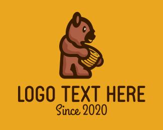 Honey - Honey Bear logo design
