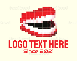 Pixel - Pixel Mouth logo design