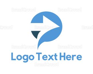 Distribution - Arrow Circle logo design