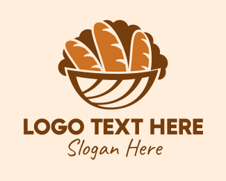 Basket - Baguette Bread Basket logo design