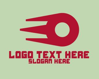 Meteor - Fast Comet Letter O logo design