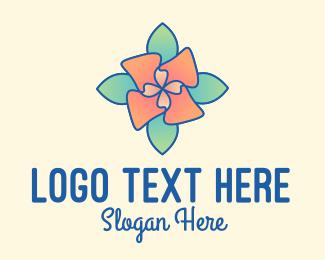 Multicolor - Multicolor Flower  logo design