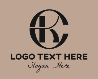 Clothing Line - Elegant CK Monogram logo design