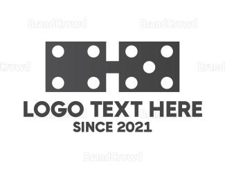 Dominoes - Dominoe Glasses logo design