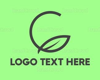 Environmentally Friendly - Green Leaf Circle logo design