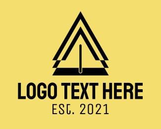 Road Safety - Caution Safety Sign  logo design