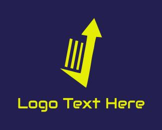 Stock Market - Up Notes logo design