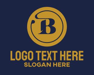 Management - Gold Letter B Security Corporate logo design