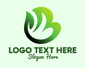 Geen - Green Organic Plant Letter B logo design