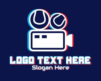 Vlogger - Glitchy Sports Vlogger logo design
