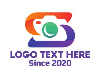 Camera Filter - Letter S Photography Studio logo design