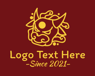 2021 - Golden Angry Ox logo design