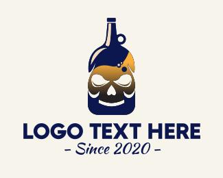 Bar - Skull Liquor Bar logo design