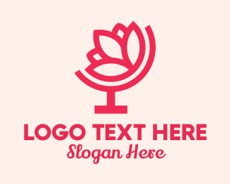 Lotus Flower - Pink Lotus Atlas logo design