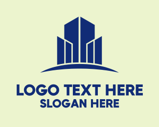 Office Building - High Rise Real Estate  logo design