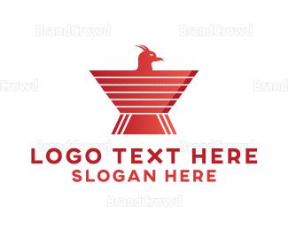 No - Red Bird Emblem logo design