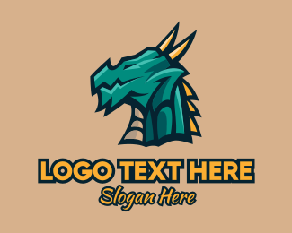 Lizard - Dragon Esports Gaming Mascot logo design