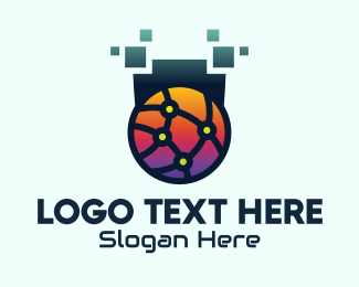 Telecommunication - Global Tech Company logo design