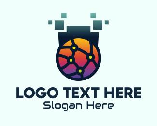 Communication - Global Tech Company logo design