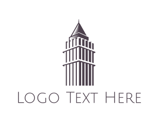 Hong Kong - Central Plaza Outline logo design